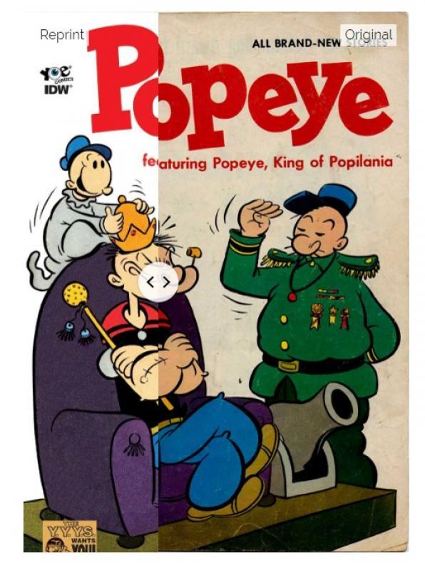 <em>Popeye </em>Cover, Recoloring representation